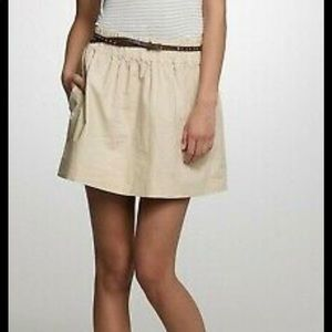 J. Crew skirt size 2 100% cotton lined nude beige